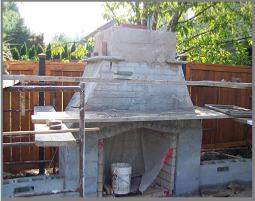 outdoor fireplace rough in