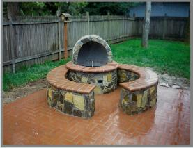 fire pit and bench 2