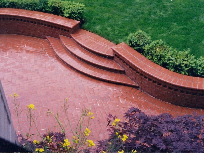 Nothing Like Have The Unique Patio Design . This Was A Flowing Design That  Softens Up The Areas. We Did The Excavation .footing , Drains,and Brick  Walls And ...